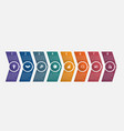 horizontal numbered color arrows with text vector image vector image