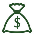 isolated money bag icon vector image