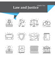 law and justice icon vector image vector image