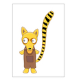 Lemur cartoon vector | Price: 1 Credit (USD $1)