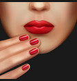 makeup and manicure vector image vector image