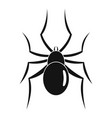 male mouse spider icon simple style vector image vector image