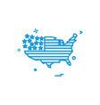 map america icon vector image vector image