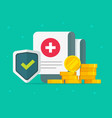 medical health care insurance form protection or vector image