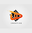 movie play letter o logo design concept template vector image vector image
