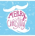 mustache and beard santa christmas card vector image vector image