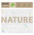 nature thematic collection line icons vector image