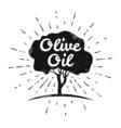 Olive label logo design Olive tree vector image vector image