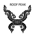 peak of thai or asia roof vector image