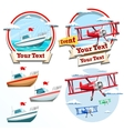 Plane and boat summer time vector image vector image