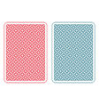 Playing cards back alfa vector image vector image