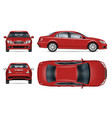 red car template vehicle branding mockup vector image vector image