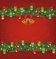 red christmas decoration banner template vector image vector image