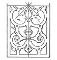 renaissance oblong panel is a design found at the vector image vector image