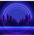 retro futurism futuristic synth wave vector image vector image