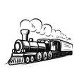 retro train isolated on white background design vector image