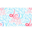 seamless calligraphic pattern with childish vector image