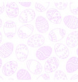 seamless easter eggs background violet pink vector image vector image