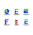 set initial letter e logo template design vector image vector image