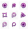 set of letter p logo icon design template vector image vector image