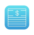 Stack of dollar bills line icon vector image