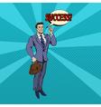 Successful Businessman Pop Art Banner vector image vector image