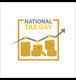 tax day template design vector image vector image