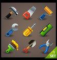tools icon set-1 vector image vector image