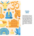 travel india concept background in flat style vector image vector image