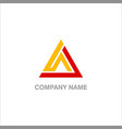 triangle design company logo vector image vector image