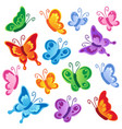 various butterflies collection 1 vector image vector image