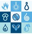 water logo icon vector image