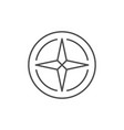 wind rose line outline icon vector image