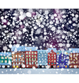 winter city night vector image vector image