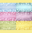 lights backgrounds collection vector image