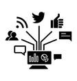 social marketing icon sig vector image
