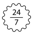 24 7 service thin line icon open 24h hours a day vector image