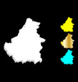 3d map of borneo vector image vector image