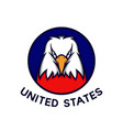 american eagle with circle badge vector image vector image