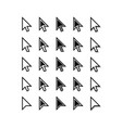 Arrows Cursor Icons Mouse Pointer Set vector image vector image