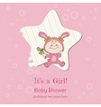 Baby Girl Shower and Arrival Card vector image vector image