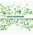background of different color hexagons vector image vector image