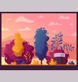 beautiful plants cartoon vector image vector image