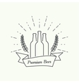 Beer brewery emblems vector image vector image