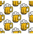Beer tankard seamless pattern vector image vector image