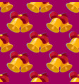 bell seamless pattern vector image vector image