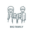 big family line icon linear concept vector image vector image