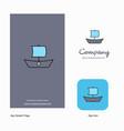 boat company logo app icon and splash page design vector image vector image