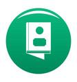 book icon green vector image vector image