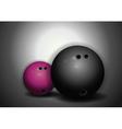 bowling balls vector image